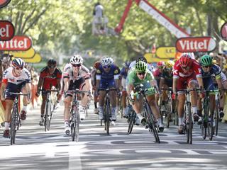 18 July 2016 103rd Tour de France Stage 16 : Moirans-en-Montagne - Berne 1st : SAGAN Peter (SVK) Tinkoff, Maillot Vert 2nd : KRISTOFF Alexander (NOR) Katusha Photo : Yuzuru SUNADA