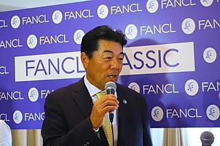 (写真:3連覇を狙う室田。「連覇も難しかったのに3連覇は…狙います!」と口も滑らか)
