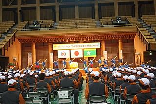 (写真:700人以上が出席。愛媛県選手団の結団式は例年以上の熱気の中で行われた)